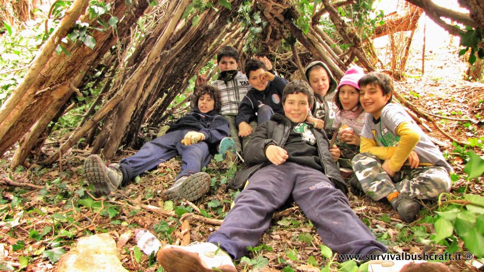 I bambini e il bushcraft